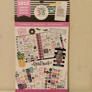The Happy Planner Stickers Student Pink 1016 New